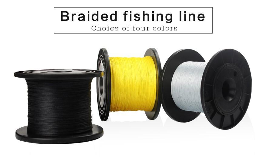 500m braid pe fishing line strong saltwater freshwater for Best saltwater fishing line color