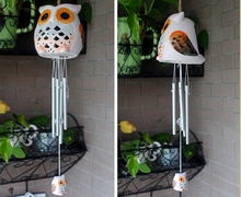 Garden Decor Solar Light Animal Owl Shape Colorful Led Indoor in Home Decor Lamp Solar Bells Wind lamp Solar Wind Chimes Led(China (Mainland))