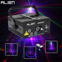 ALIEN New 96 Patterns RGB Mini Laser Projector Light DJ Disco Party Music Laser Stage Lighting Effect With LED Blue Xmas Lights(China (Mainland))