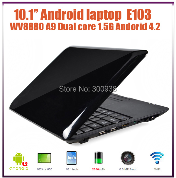 Free Shipping New 10 inch laptop computer Android 4.2  VIA 8880 Dual-Core ARM Cortex-A9 1.5GHZ 512M RAM 4G ROM  WiFi HDMI(Hong Kong)