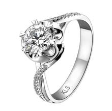 Gentlewoman Jewelry 14K Gold 0.50Carat Lab Grown Moissanite & Real Diamonds Ring for Women Diamonds wedding Engagement Ring(China (Mainland))