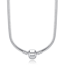 Fashion 45CM Silver Plated Snake Chain Long Chain Necklace Original Jewelry A2037