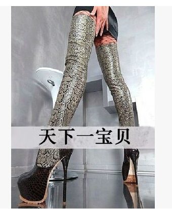 New round Toe Over Knee High boots Sexy Women Boots genuine leather High Heels Shoes Woman Patent Leather Zapatos Mujer