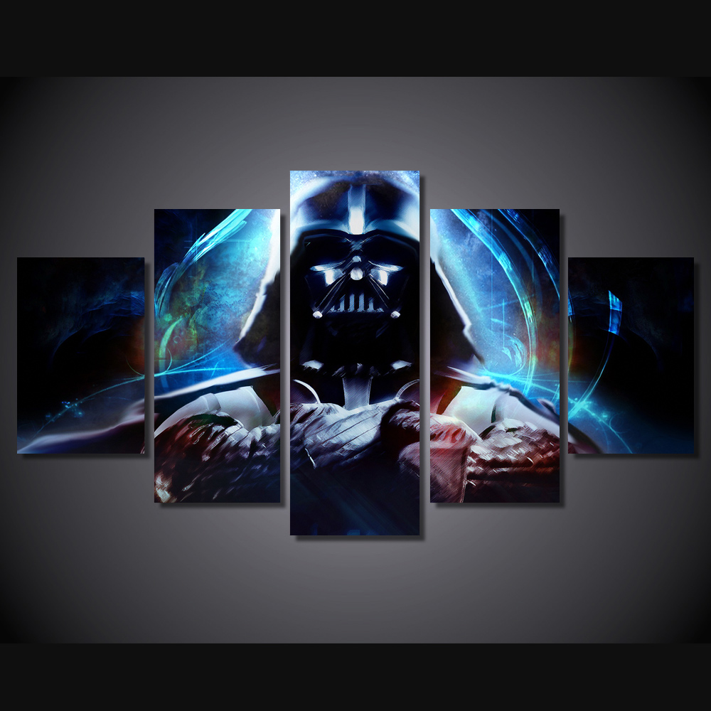 buy hd printed star wars 5 piece picture. Black Bedroom Furniture Sets. Home Design Ideas