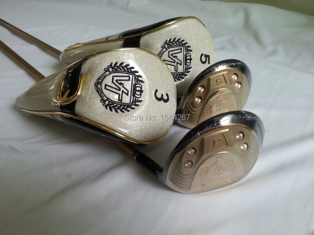 2015 fashion brand golf fairway wood 3# 5# men fairway woods free shipping golf clubs putter men with cover(China (Mainland))