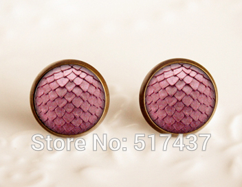wholesale Game of thrones inspired jewelry ,Stud Glass Cabochon Earrings, RED Dragon Egg Handmade Glass Earrings(China (Mainland))