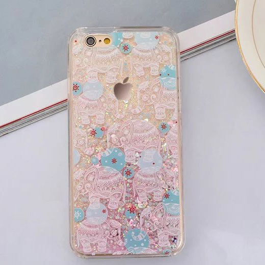 New Arrival Dynamic Liquid Quicksand attern colored drawing Back Cover Silicon Phone Case for iphone 5 5S SE 6S 6 plus Clear(China (Mainland))