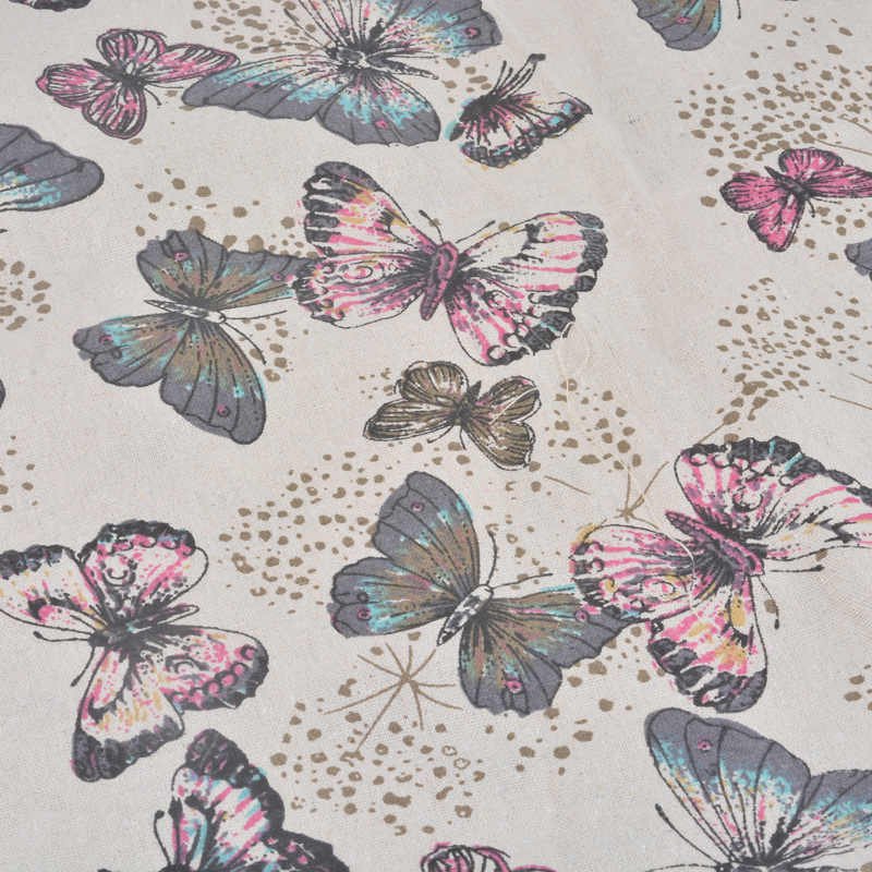 98*48cm Zakka Linen Cotton Fabric Twill Butterfly Fabric For Rural Bedding Sewing Patchwork Quilting Fabrics Sewing DIY Cloth(China (Mainland))