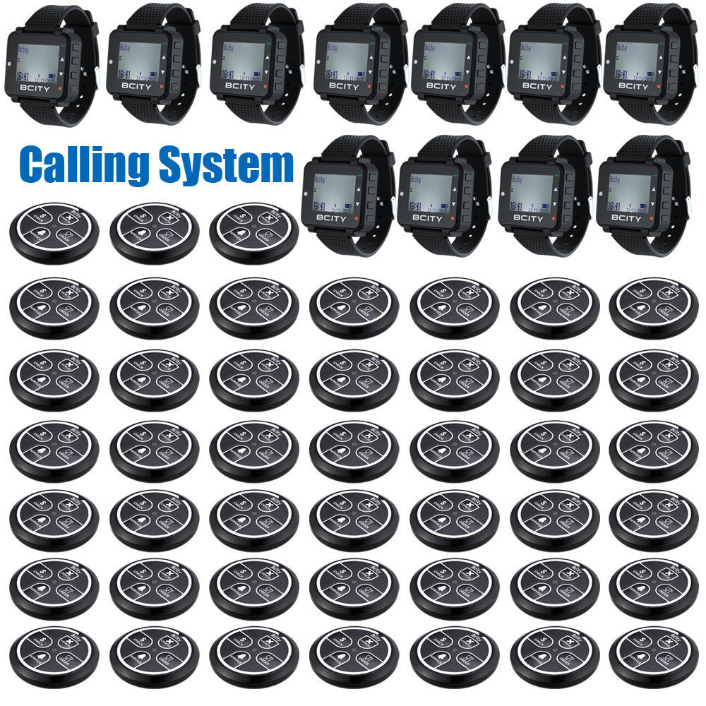 Long Distance Wireless Calling System for Coffee/Restaurant,45 Pagers,11 Watches<br><br>Aliexpress
