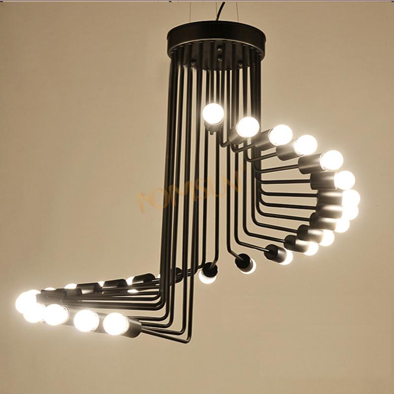 Mordern Nordic Retro pendant light Edison Bulb Lights fixtures lustre industriel iron Loft Antique DIY E27 Spider Ceiling Lamp(China (Mainland))