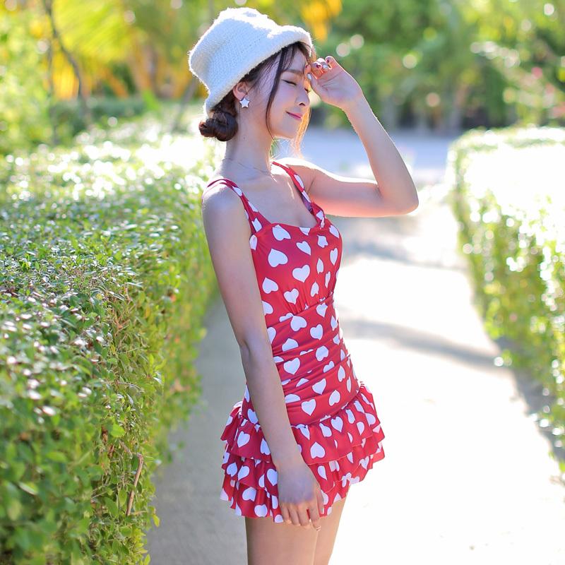 High Quality Push Up Swimwear 1 piece Swimsuit Ruffles Conservative Women Swim Skirt Polka Dot One Piece Trajes De Playa Одежда и ак�е��уары<br><br><br>Aliexpress