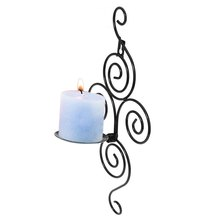 Europe Style Vertical Swirling Iron Candle Holder Sconce Hanging Wall Decorative Art Candlestick for Home Decoration,Weddings (China (Mainland))