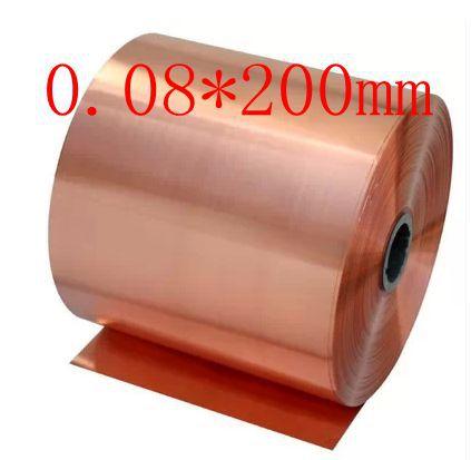 0.08*200mm High quality copper strip, sheet skin red copper,Purple copper foil,Copper plate<br><br>Aliexpress