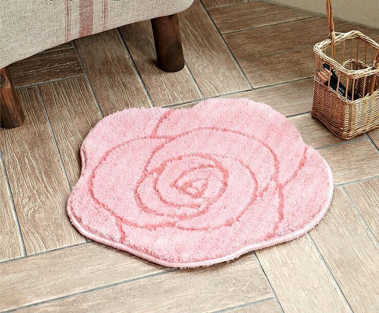 Compre Tapete Rosa Tapetes Tapete De Pelúcia Quarto Banheiro Sala De