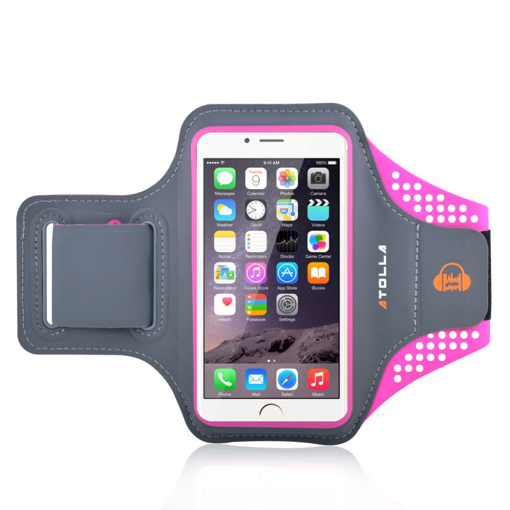 High Quality ATOLLA Brand Sports Armband for iPhone 6, Galaxy S6 /S6 Edge / S5,Arm band for workouts Running cycling (Rose)(China (Mainland))