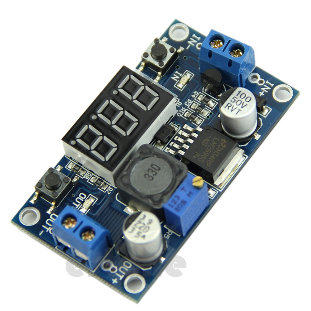 image for Free Shipping DC 4.0~40 To 1.3-37V LED Voltmeter Buck Step-down Power