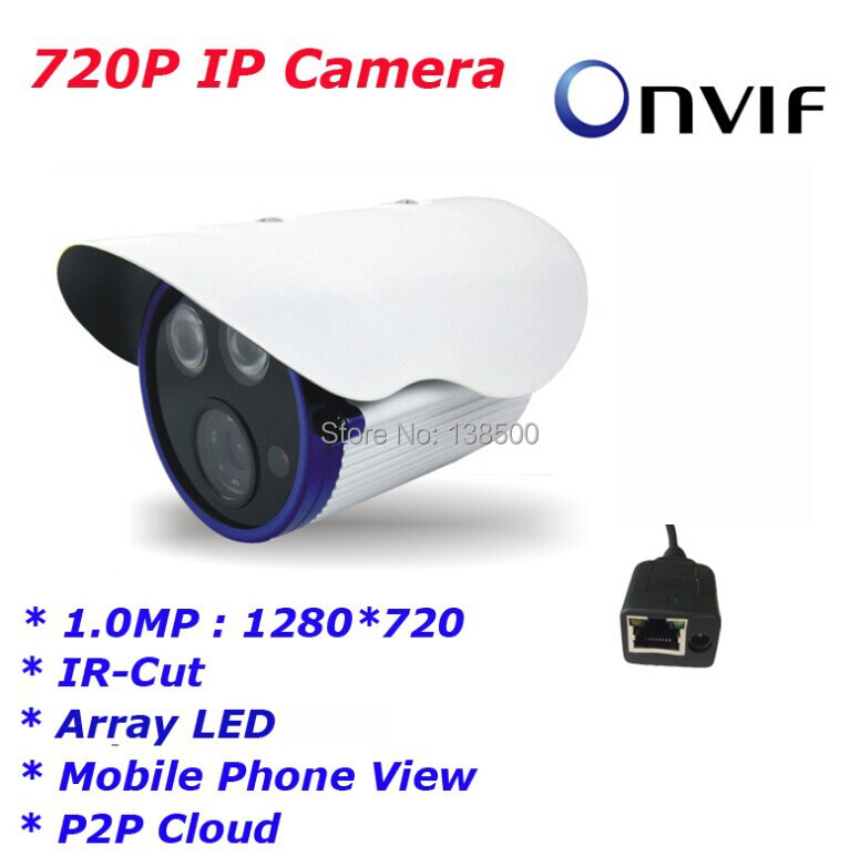 Free Shipping Hot Selling CCTV 1MP 1280X720P HD P2P Array LED Outdoor Security IP Bullet Camera Onvif<br><br>Aliexpress