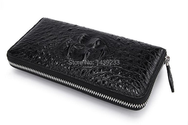 100% genuine crocodile leather purse and wallets 2015 fashion women clutch bag  crocodile leather<br><br>Aliexpress