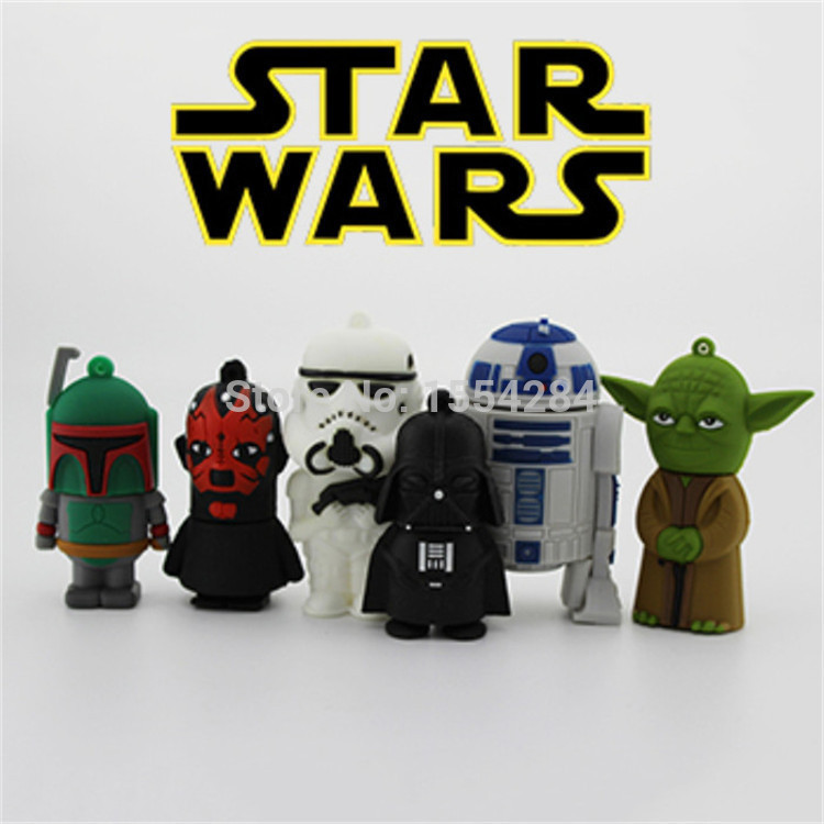 Гаджет  Star Wars R2D2 thumb-USB 2.0 pen drive u disk USB Flash Drive thumb memory stick 1GB 4GB 8GB 16GB 32GB 64GB Flash card None Компьютер & сеть