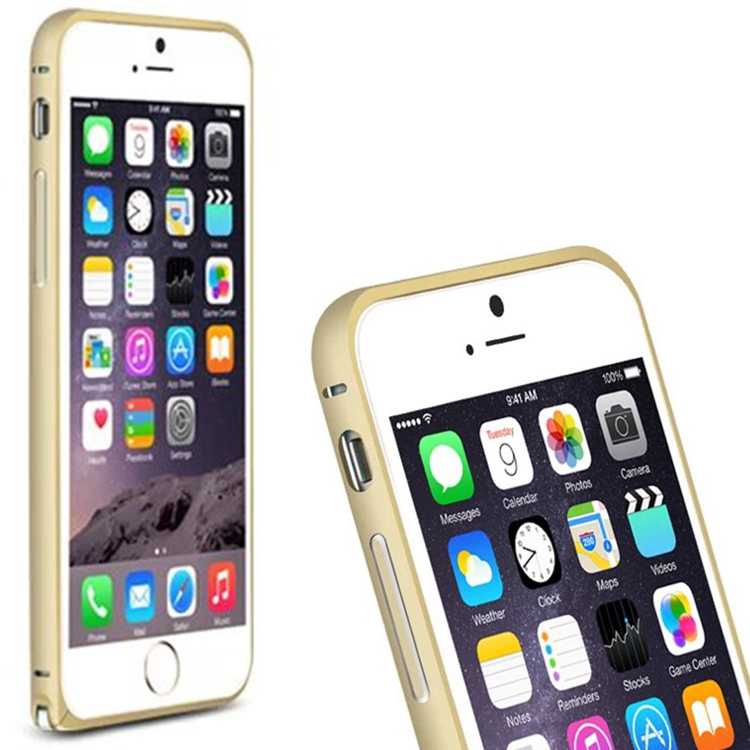 Hippocampal Buckle Metal Frame Bumper Case / Toughened Tempered Glass LCD Screen Protector For Apple iPhone 6 4.7 Inch(China (Mainland))