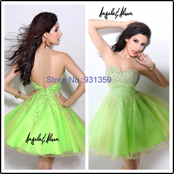 Custome Made Tulle Crystal Sweetheart Open Back Sexy Mini Cocktail Party Dressees Vestido De Festa Curto CD674 Buy Party Dress(China (Mainland))