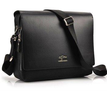 Бесплатная доставка мода свободного покроя кожа мужчины сумка на плечо, гарантия качества новое, аутентичные сумки кенгуру, мужская деловая сумка