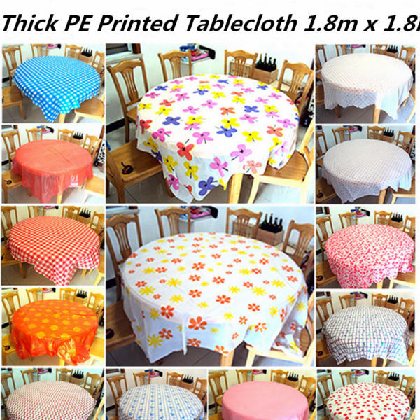 thick pe printed party tablecloth square table