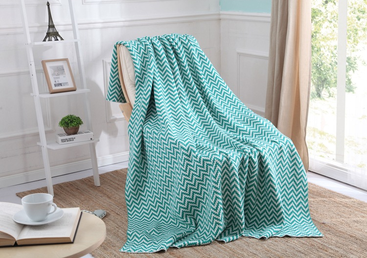 Green striped Chevron Soft Blanket Cashmere blankets knitting Double sided Manta Fleece Blanket Sofa Bed Plane Travel Plaids(China (Mainland))