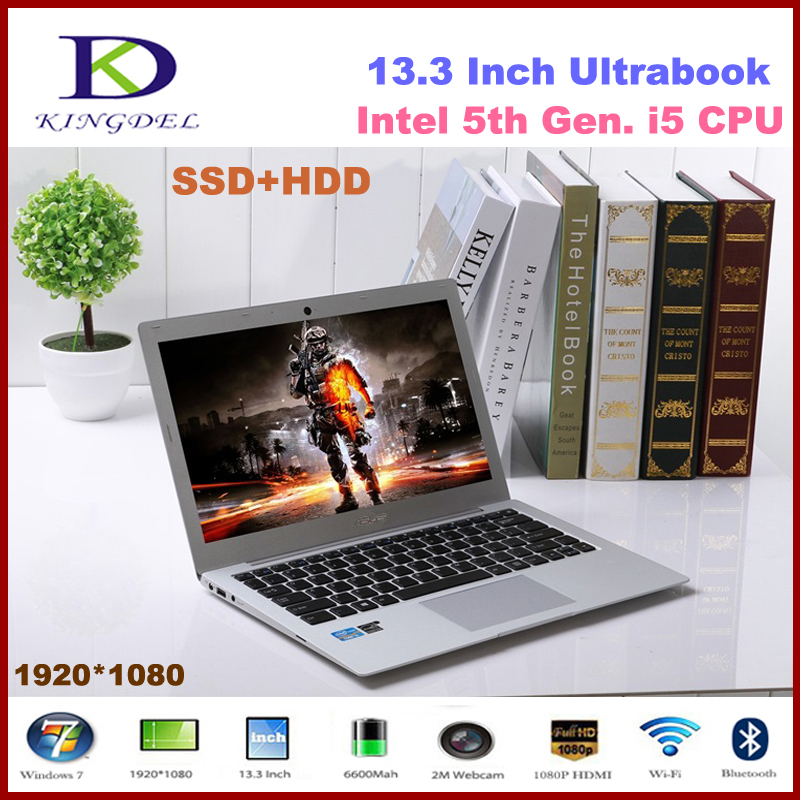 High speed Core i5-5200U Dual Core notebook 8GB RAM+128GB SSD+500G HDD,1080P,WIFI, Bluetooth,Ultra thin laptop(Hong Kong)