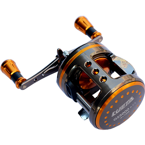 9BB 5.1:1 Full Metal Casting Drum Reel Boat Trolling Fishing Reel Aluminum Alloy Body Big Game Reels Baitcast Lure Wheel