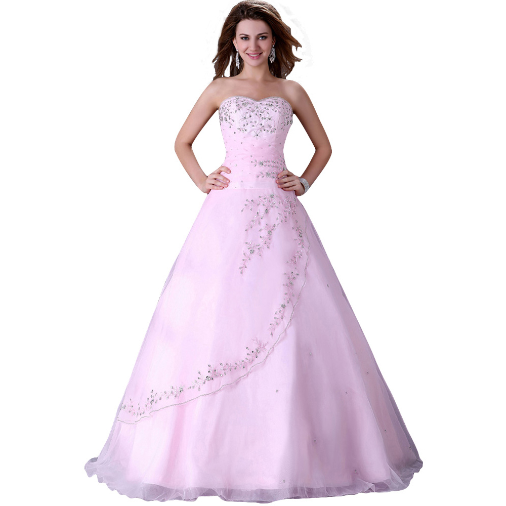 2016 New Korean Style Vestidos de Noivas Corset Vintage Wedding Gowns Pink Long Bridal Dresses Designer Ball Special Events 4523 - Grace Karin Evening Dress Co. Limited store