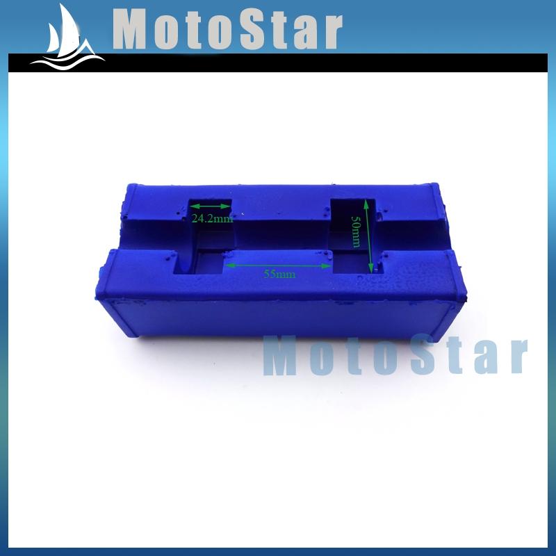 1 1/8'' 28mm Square Fat Oversize Handlebar Blue Pad For Pit Dirt Motor Bike Motorcycle MX Motocross ATV Quad 4 Wheeler(China (Mainland))