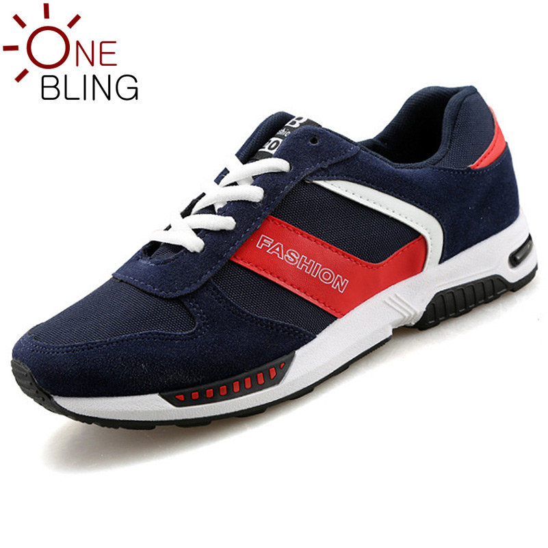 Men s Shoes 2016 Spring Fashion Artificial PU Collision Color Casual Shoes Splicing Lace up Outdoor