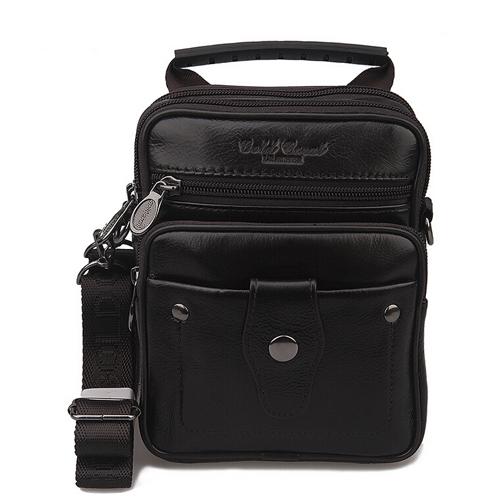 Luxury Brand Genuine Leather Small Messenger Bags Male Multifunction Designer Handbags Casual Tote Belt Bag Shoulder Bag For Men(China (Mainland))