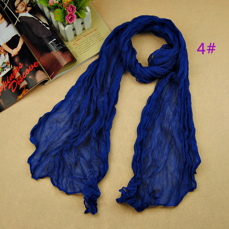 2016 women's fashion solider color blue black winter warm scarf soft Plain Cotton Women Scarves Shawls Muslim Hijabs Long Scarf(China (Mainland))