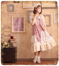 patchwork vintage spain euro kawaii hippie dresses boho harajuku roupas lolita chiffon women dress pleated 1138 tunique femme