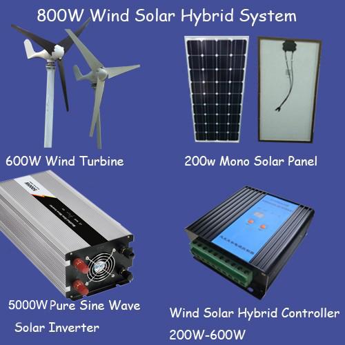 800w solar home generator system/600w wind generator/ solar panel 400w/5000w wind solar inverter/600w wind(China (Mainland))