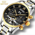 KINYUED brand Tourbillon Mechanical Watch Men Stainless Steel Strap band Waterproof Automatic Men s Watch relogio