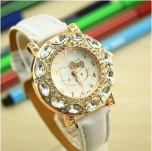 The new women s fashion watches for children recreational sports sapphire KT Cat Quartz Watch