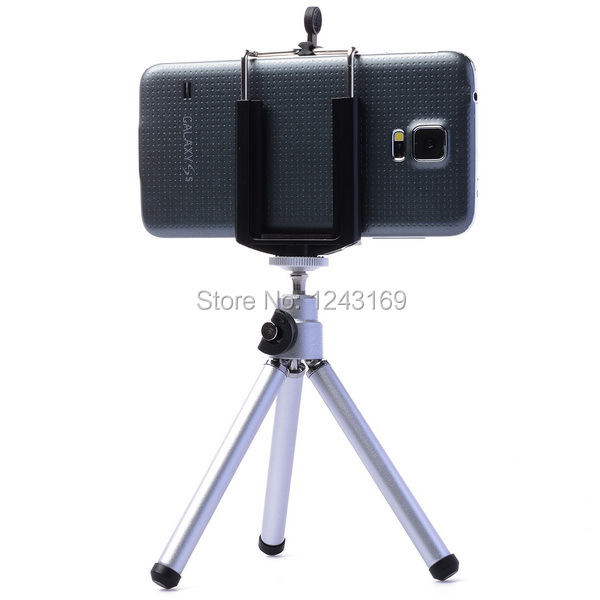 Rotatable Mobile Cell Phone Camera Tripod Stand+Clip Holder Mount Bracket adapter For iPhone Samsung Galaxy HTC DC476-SZ(China (Mainland))