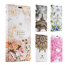 3D Embossed Designer Case For Huawei P8 Lite Luxury Floral Stylish Leather Flip For Huawei P8 Lite Case Stand