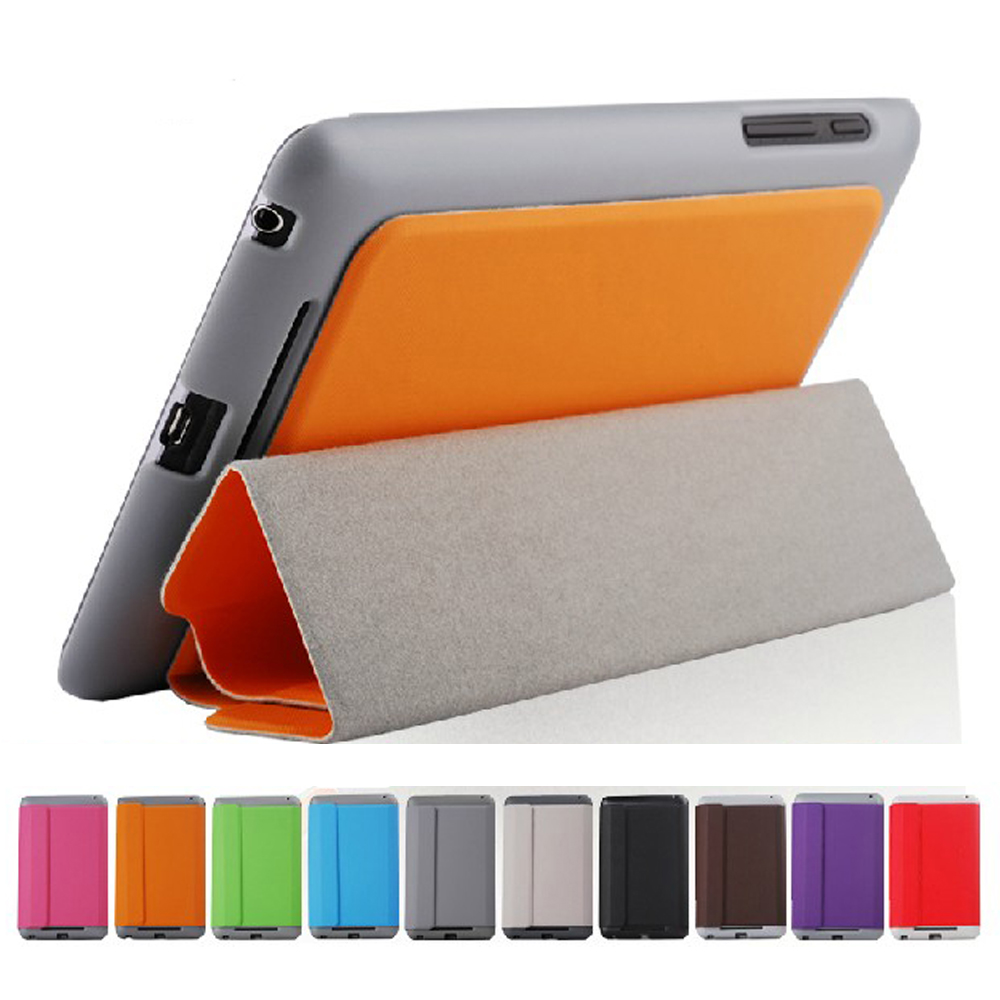 Smart Magnetic Slim Folid Stand PU Leather Case Cover For Google nexus 7 1st Gen Tablet(China (Mainland))