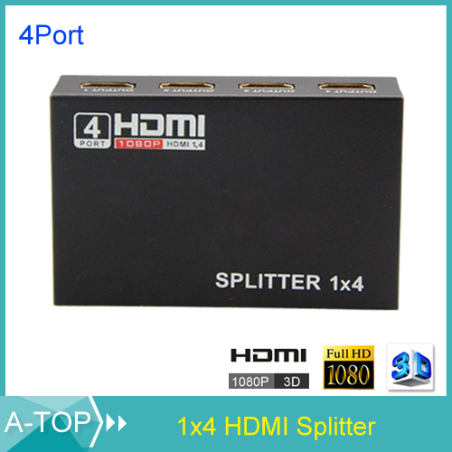 Mini 4 Port HDMI Switch Switcher HDMI Splitter HDMI Port for PS3 PS4 for Xbox 360 PC DV DVD HDTV 1080P 1 Input to 4 Output(China (Mainland))