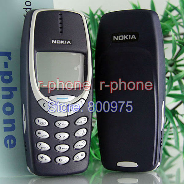 Refurbished NOKIA 3310 MOBILE Cell Phone Original GSM 900/1800 DualBand Unlocked Dark Blue Gift(China (Mainland))