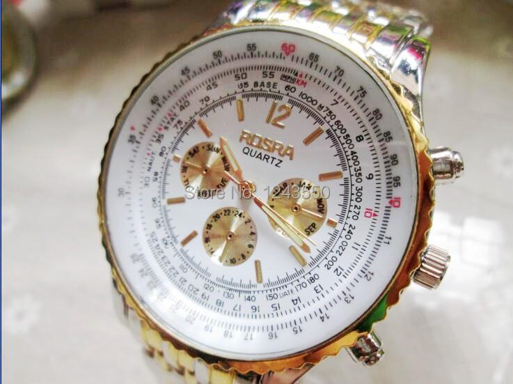 Brand ROSRA Original Luxury Men Quartz watch Fashion Business Wristwatches Men Full steel Watches Casual watches Wholesale<br><br>Aliexpress