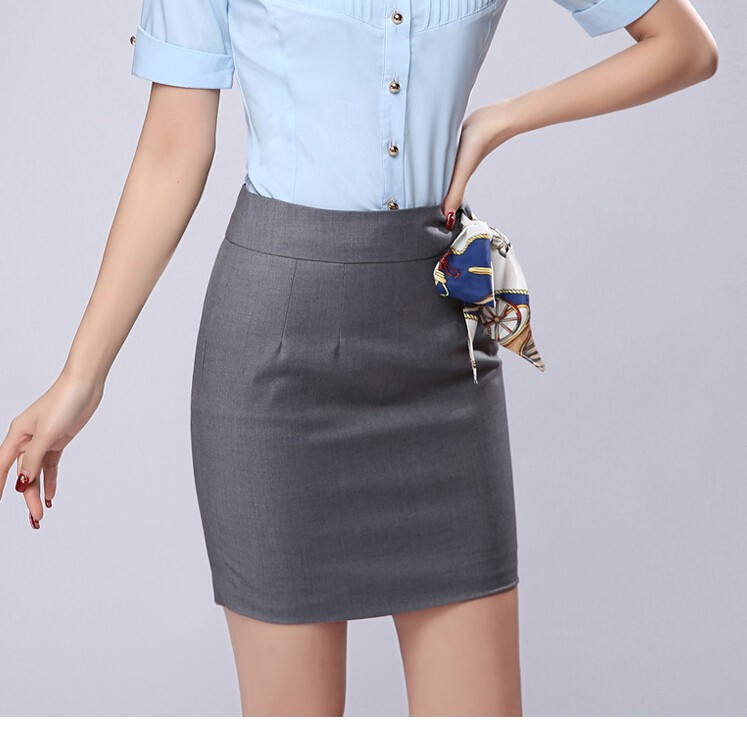 Office Skirt With Free Scarf 2015 Summer Женщины's Born Plus Размер S-3XL Formal ...