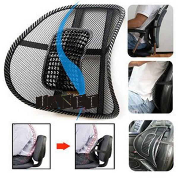 hot selling black mesh lumbar back brace support cushion cool for office home car seat chair(China (Mainland))