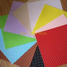 20 pieces Polka Dots and Hearts Printed 30x30cm 1MM Felt Fabric 100% Polyester Nonwoven DIY Felt Cloth Pack Drop Shipping!(China (Mainland))