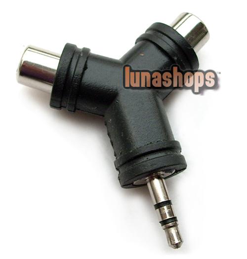 3.5mm Male RCA Female Y Splitter Stereo Audio Adapter Converter LN001418