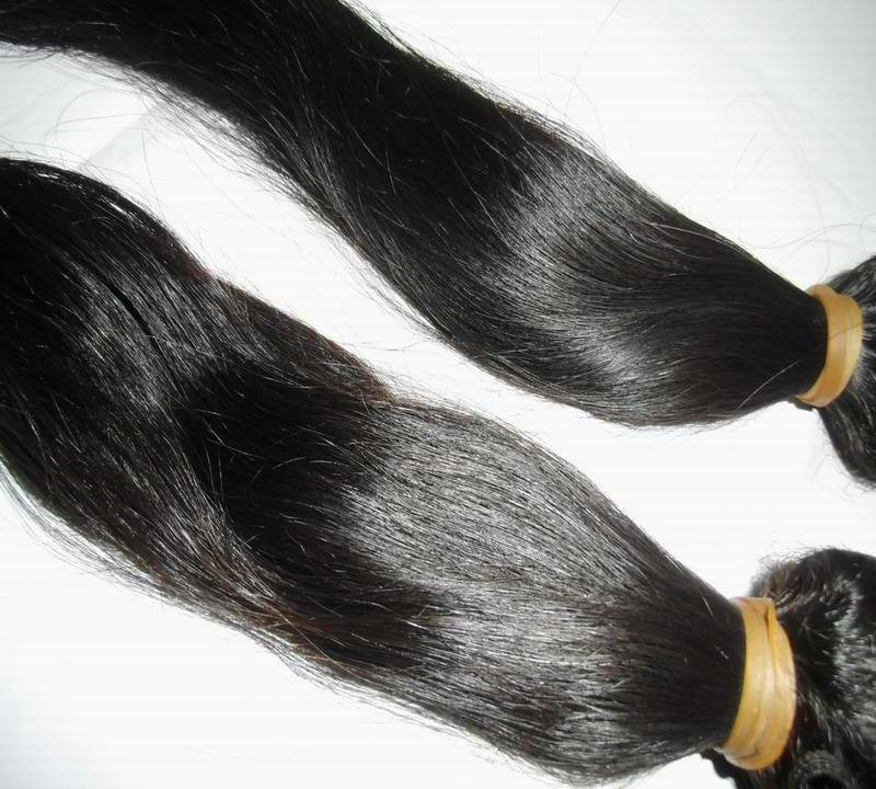 "3pcs=300g/lot 12""-30"" Unprocessed straight Bohemian virgin hair extensions most expensive human hair bundles(China (Mainland))"